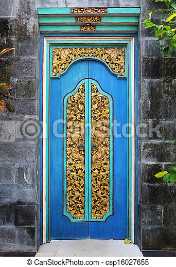 Bali Wood Carved Doors - Csp16027655 & Balinese Door Carving \u0026 Hand Carved Wooden Doors At The Mimpi ... Pezcame.Com