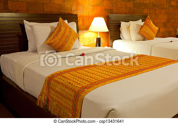 balinais, style, chambre à coucher