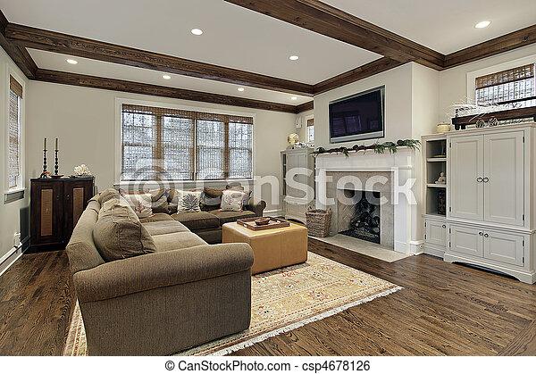 Balken plafond hout kamer gezin. plafond kamer gezin balken