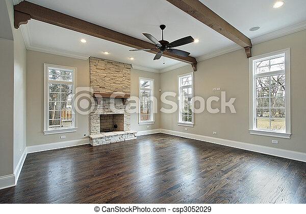 Balken plafond hout kamer gezin. hout plafond kamer gezin
