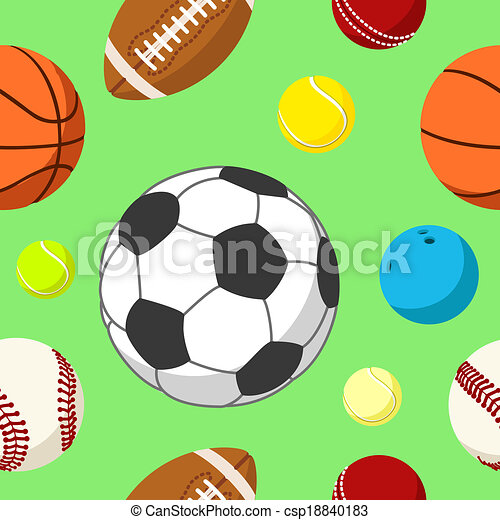 Ball Background 2 Seamless Tile With Sport Balls