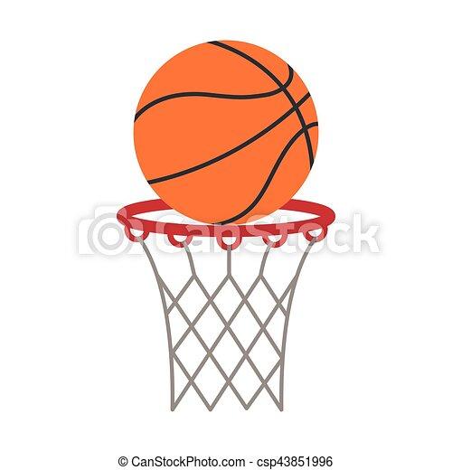 ball basket basketball score shooting - csp43851996