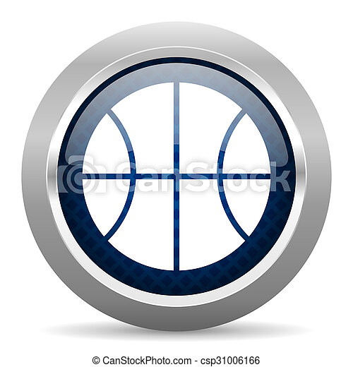 ball blue circle glossy web icon on white background, round button for internet and mobile app - csp31006166