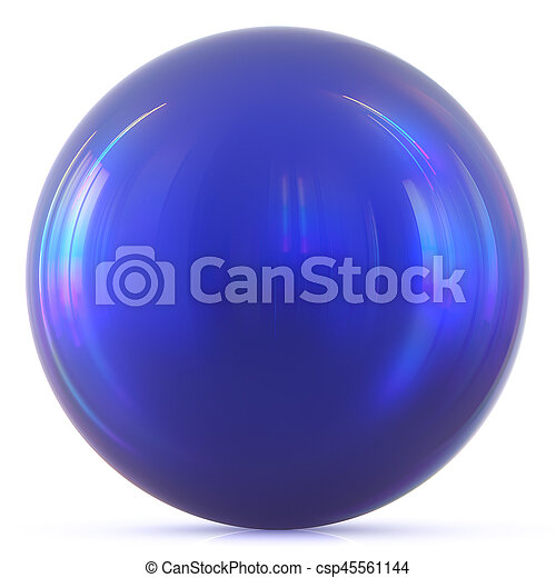 Ball blue sphere round button basic circle geometric shape - csp45561144