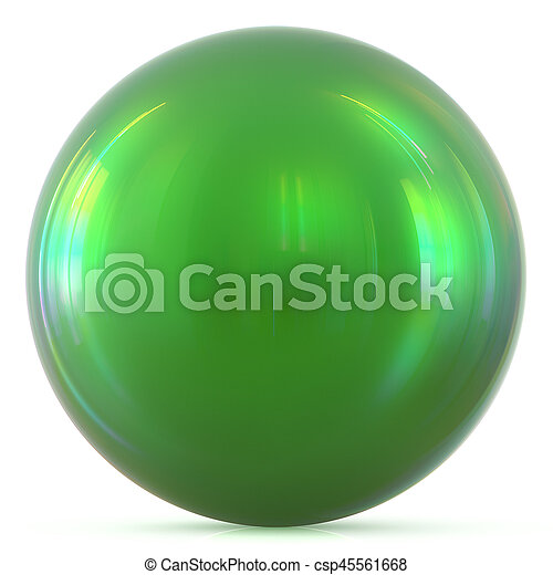 Ball green sphere round button basic circle geometric shape - csp45561668