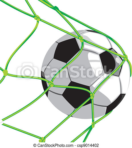 ball in goal - football - csp9014402