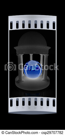 ball in rotunda. The film strip - csp29707782