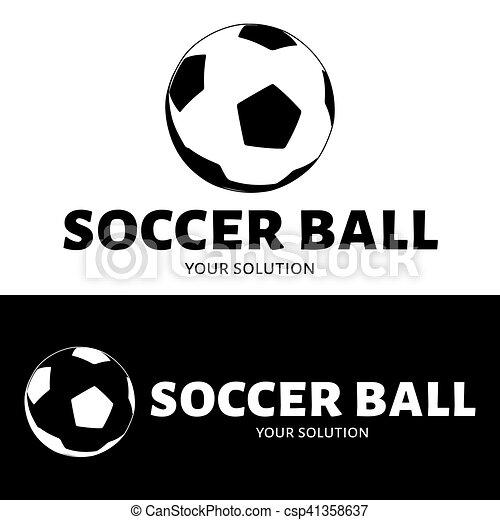 ball logo vector brand logo in the shape of a soccer ball