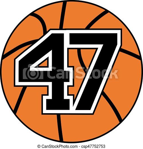 47 >> Design Of Ball Of Basketball With The Number 47