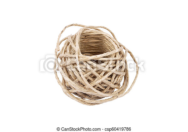 Ball of twine on white background - csp60419786