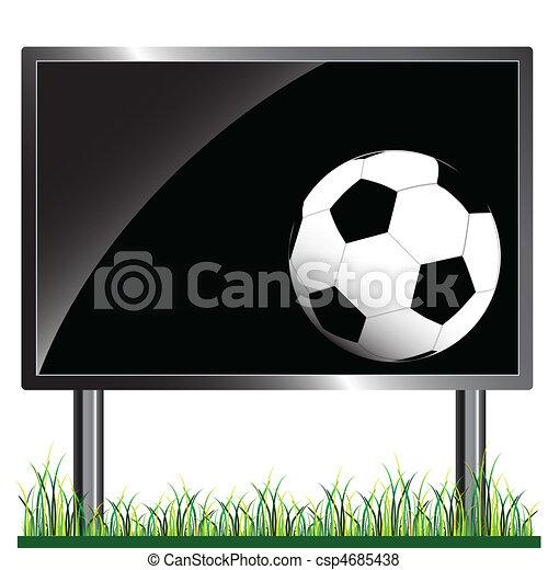 ball on the billboard - csp4685438