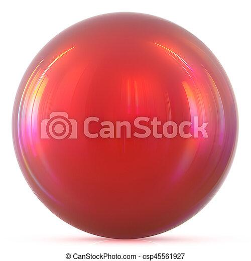 Ball red sphere round button basic circle drop geometric shape - csp45561927