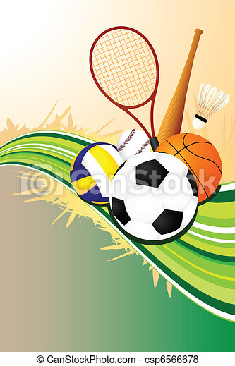 Ball Sports Background A Vector Illustration Of