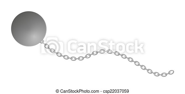 ball with long chain - csp22037059
