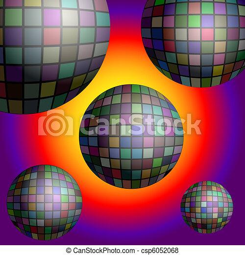 ball10, disco, achtergrond - csp6052068