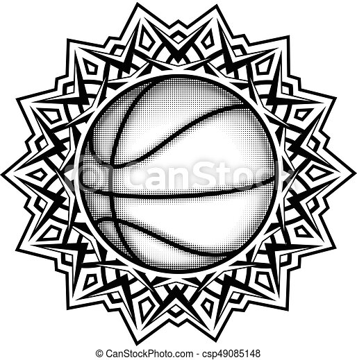 Ballonpattern Abstract Vector Illustration Black And White