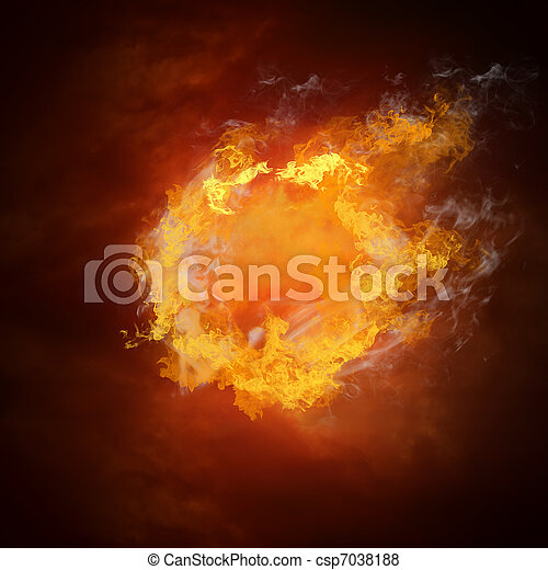 balle, chaud, feux, flamme, football, vitesse - csp7038188
