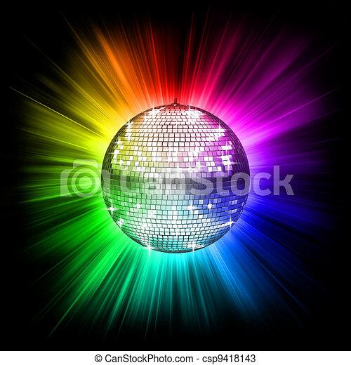 balle, disco, coloré - csp9418143