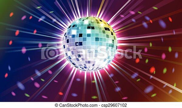 balle, fond, disco - csp29607102