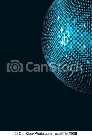 balle, fond, disco - csp31542906