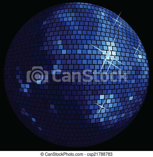 balle, fond, disco - csp21788783