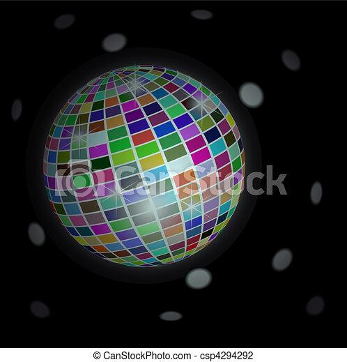 balle, fond, -, disco, vecteur - csp4294292