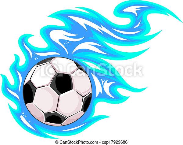 balle, football football, ou, championnat - csp17923686