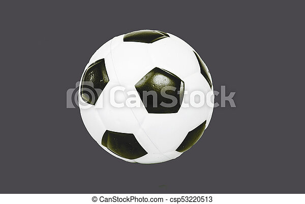 balle, football, use.., gris, isolé, arrière-plan., coupure, facile, coupure, football, dehors - csp53220513