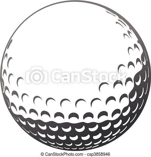 balle, golf - csp3858946