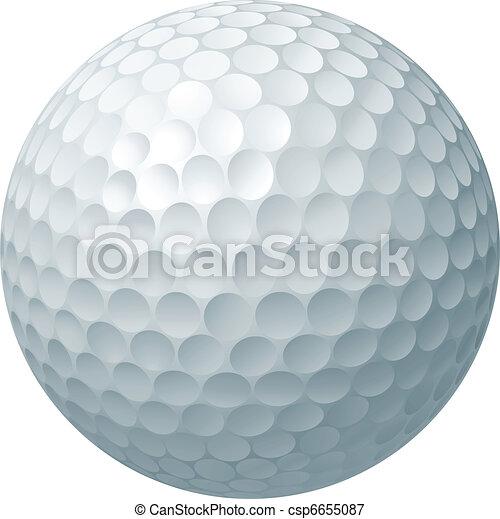 balle, golf, illustration - csp6655087