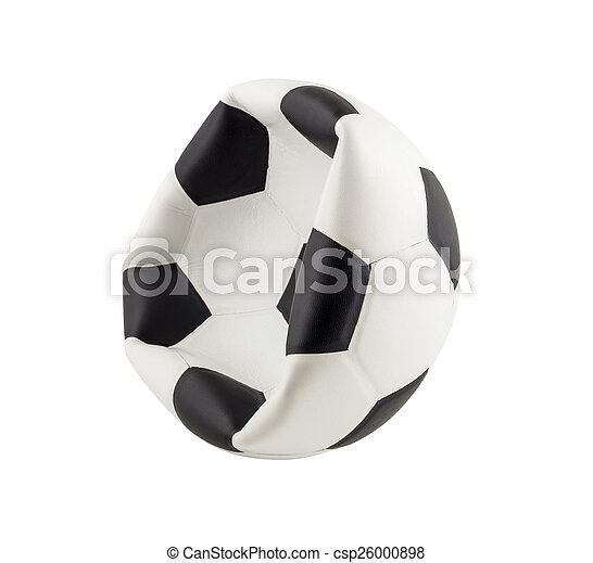 balle, isolé, fond, dégonflé, blanc, football - csp26000898