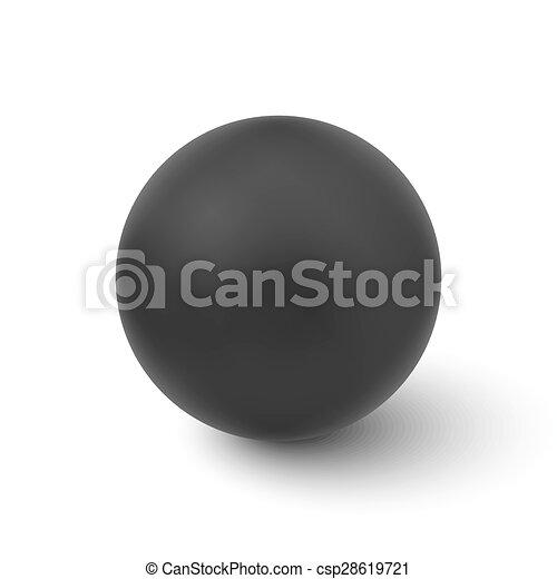 balle, isolé, vecteur, arrière-plan noir, blanc - csp28619721