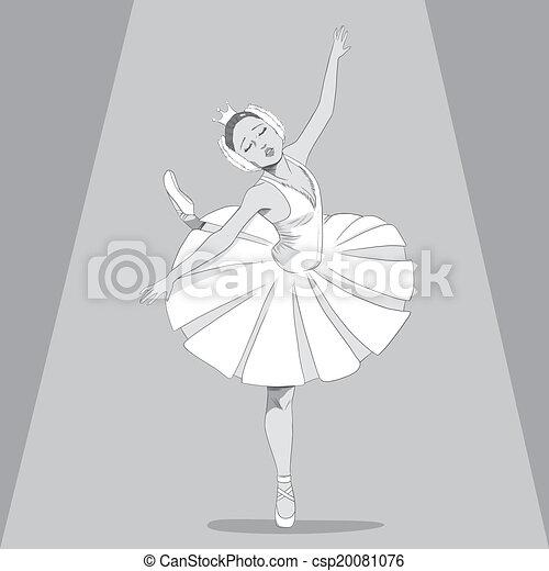 Ballerina Black & White - csp20081076