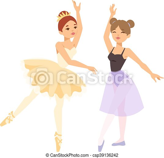 Ballerina dancer vector woman - csp39136242