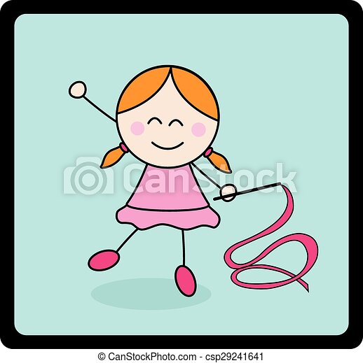 Ballerina girl - csp29241641