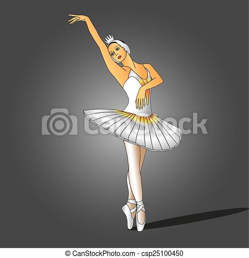 ballerina in white dress - csp25100450