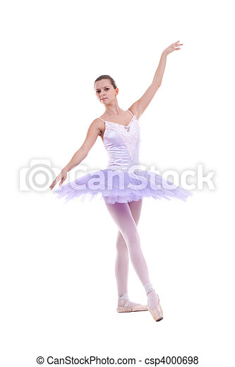 ballerina is dancing gracefully - csp4000698