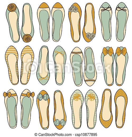 Ballerina Shoes Collection - csp10877895
