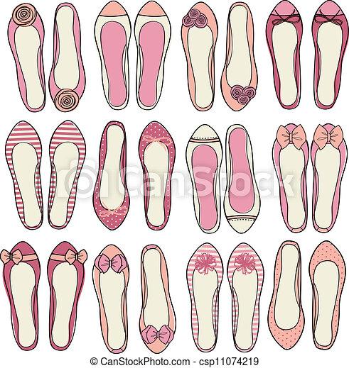 Ballerina Shoes Collection - csp11074219