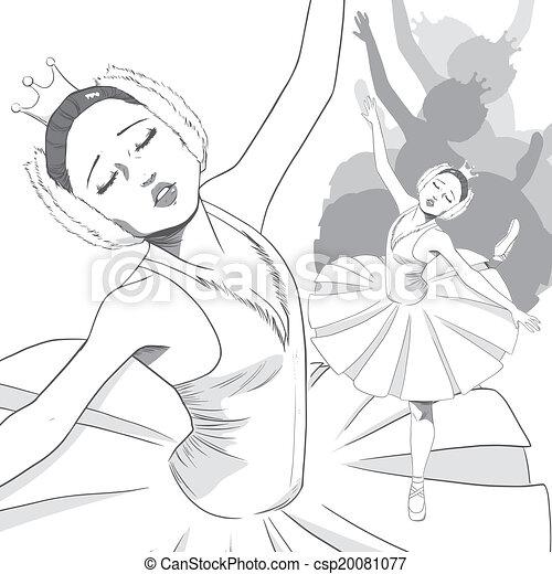 Ballerina Swan Ballet - csp20081077
