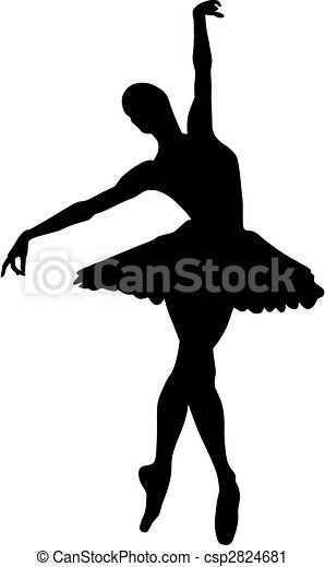 abstract vector illustration of dancing ballerina vector clip art rh canstockphoto com ballerina vector shoes ballerina vector free download