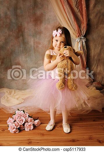 ballerine, peu, beauté - csp5117933