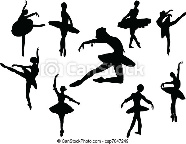 ballerine, silhouette - csp7047249