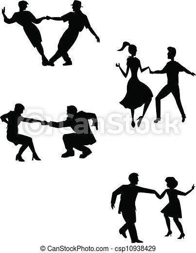 ballerini, pensare, altalena - csp10938429