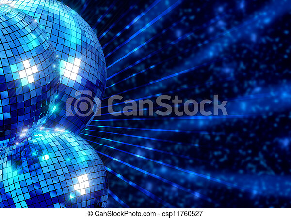 balles, coloré, disco, froussard, fond, miroir - csp11760527