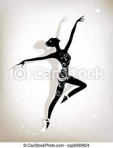 Ballet dancer for your design - csp6069824