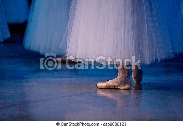 ballet dancers in slippers - csp9086121