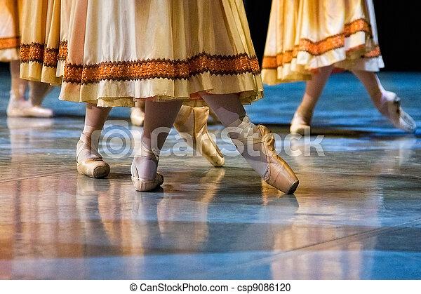 ballet dancers in slippers - csp9086120