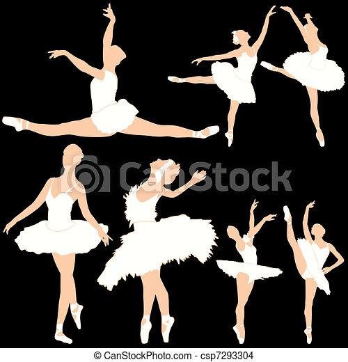 Ballet Dancers Silhouettes Set - csp7293304