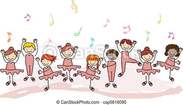 Niños practicando ballet - csp5616095